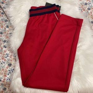 Gucci  striped-trim slim-fit tapered trousers